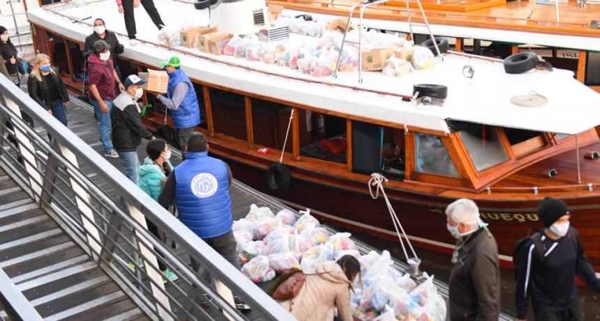 El Municipio de San Fernando colabora en la entrega del Servicio Alimentario Escolar para islas y continente