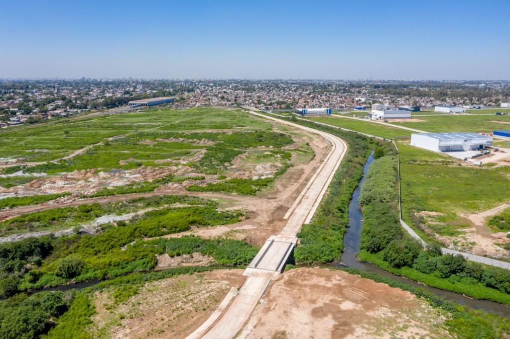 Avanza la obra de Contención en el Canal José Ingenieros en San Martín
