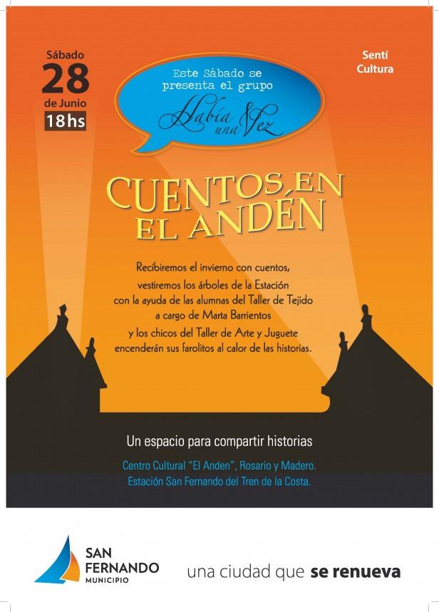 """Ciclo de Narraciones """"Cuentos en El Andén"""" edición Invierno"""