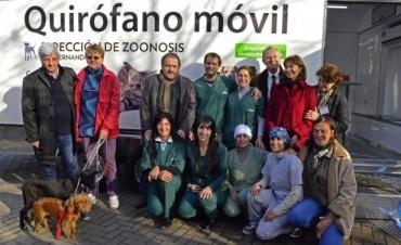 San Fernando estrenó un quirófano móvil de Zoonosis