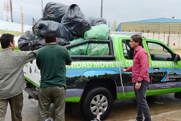 Las murgas de San Fernando iniciaron su programa de reciclaje en el Día Mundial del Medio Ambiente