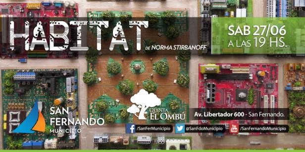 "La muestra ""Hábitat"" se inaugura en la Quinta El Ombú"