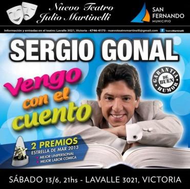 """""""Vengo con el Cuento"""" de Sergio Gonal, en el Teatro Martinelli"""