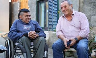 Roberto Passo visitó a Basy en Rincón y brindó su apoyo al festival solidario