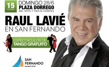 Raul Lavié se presentará gratis en San Fernando en un gran homenaje a Carlos Gardel