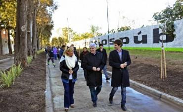 """Luis Andreotti presentó el nuevo Boulevard """"Los Pinos"""" y la apertura de la calle Guido Spano"""