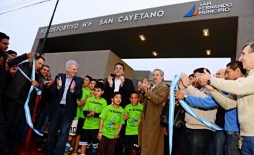 Luis Andreotti inauguró el Polideportivo N° 6 de San Fernando, junto a Sergio Massa y Felipe Solá
