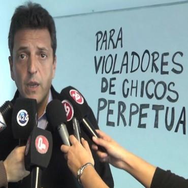 """Massa presentó su Código Penal: """"Para violadores de chicos, pena será perpetua"""