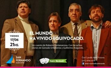 Cuentos de Roberto Fontanarrosa y Horacio Quiroga, viernes y sábado en el teatro Martinelli