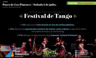 """San Fernando invita al """"Festival de Tango"""" este sábado en el Paseo de Escritores"""