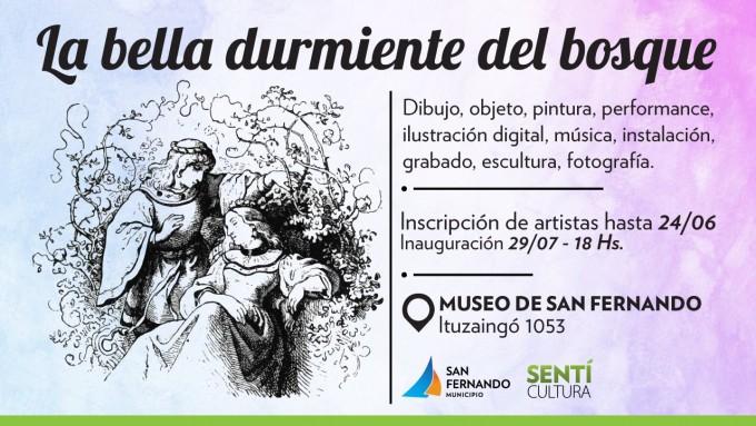 """San Fernando convoca a artistas para exposición de """"La Bella Durmiente"""""""