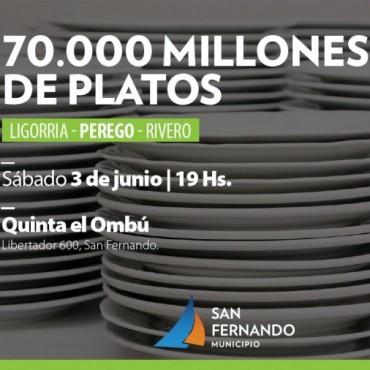 """Muestra """"70.000 Millones de Platos"""" en la Quinta El Ombú"""