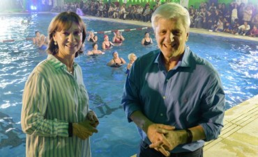 Andreotti inauguró la sexta pileta climatizada de San Fernando