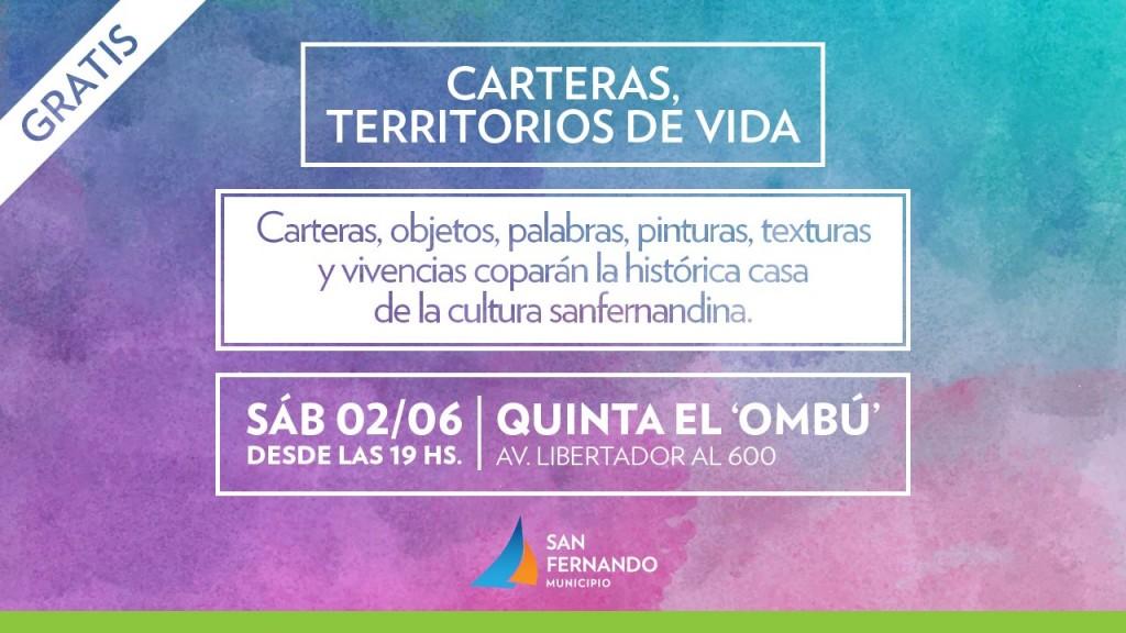 """Llega """"Carteras, territorios de vida"""" a la Quinta el 'Ombú' de San Fernando"""