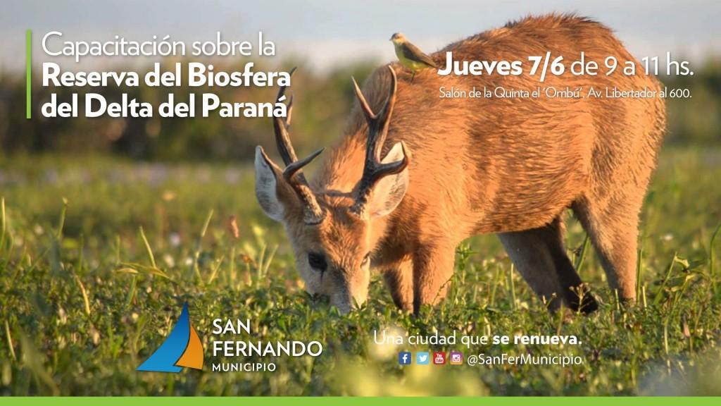 San Fernando ofrecerá una capacitación sobre la reserva de biosfera del Delta del Paraná