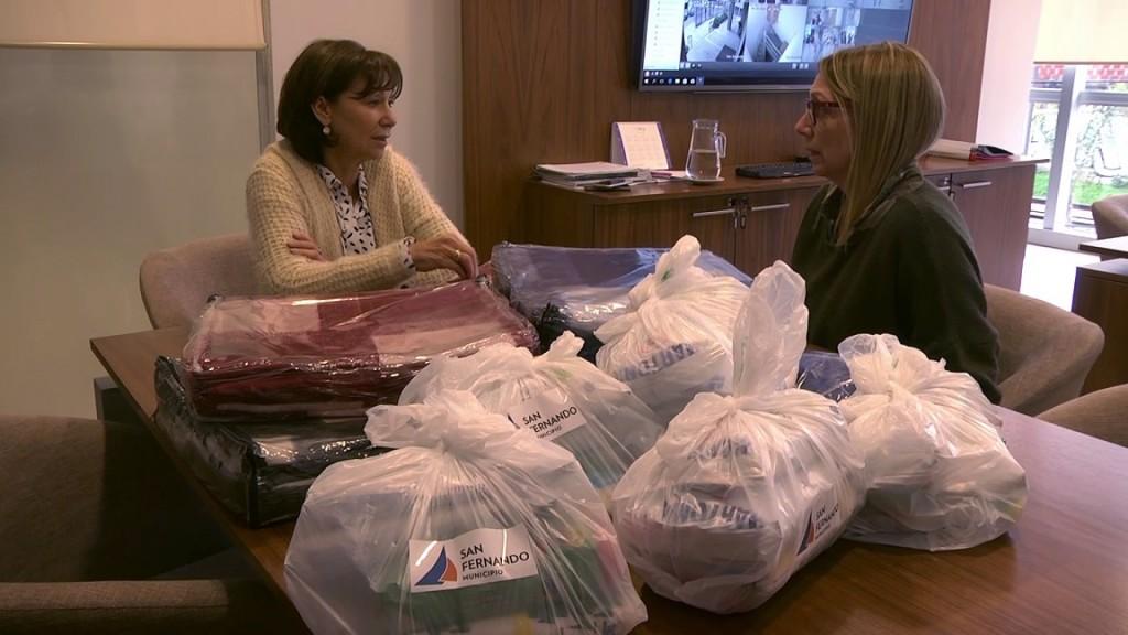Ante la llegada del frío, San Fernando asiste a vecinos con el Programa Refuerzo Invernal