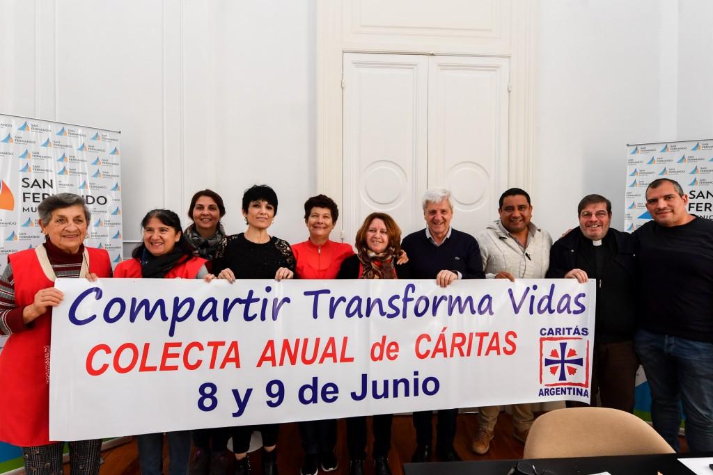 Andreotti recibió a Cáritas en el marco de una nueva Colecta Anual