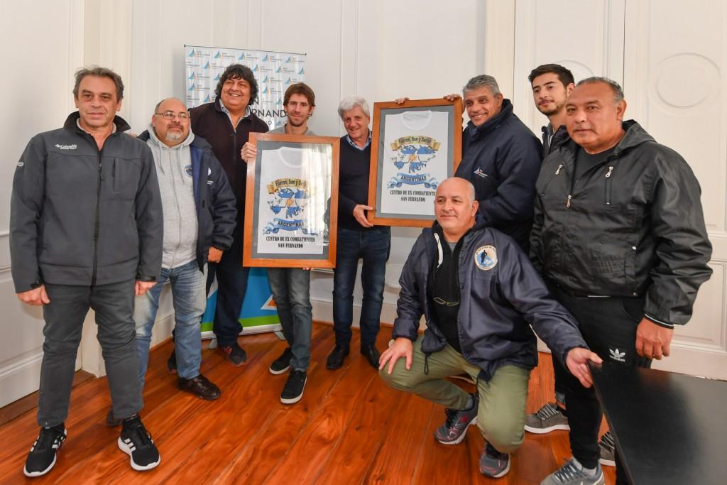 Andreotti recibió a los Ex Combatientes de Malvinas de San Fernando