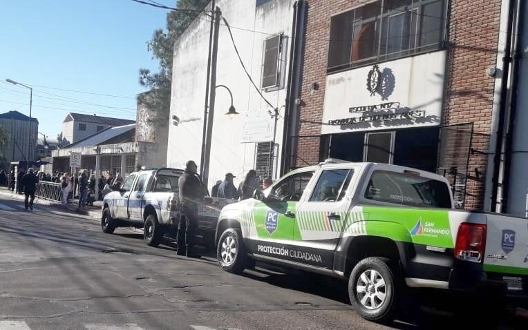 El Municipio realizó un simulacro de evacuación en la Escuela Nº 17 de Victoria