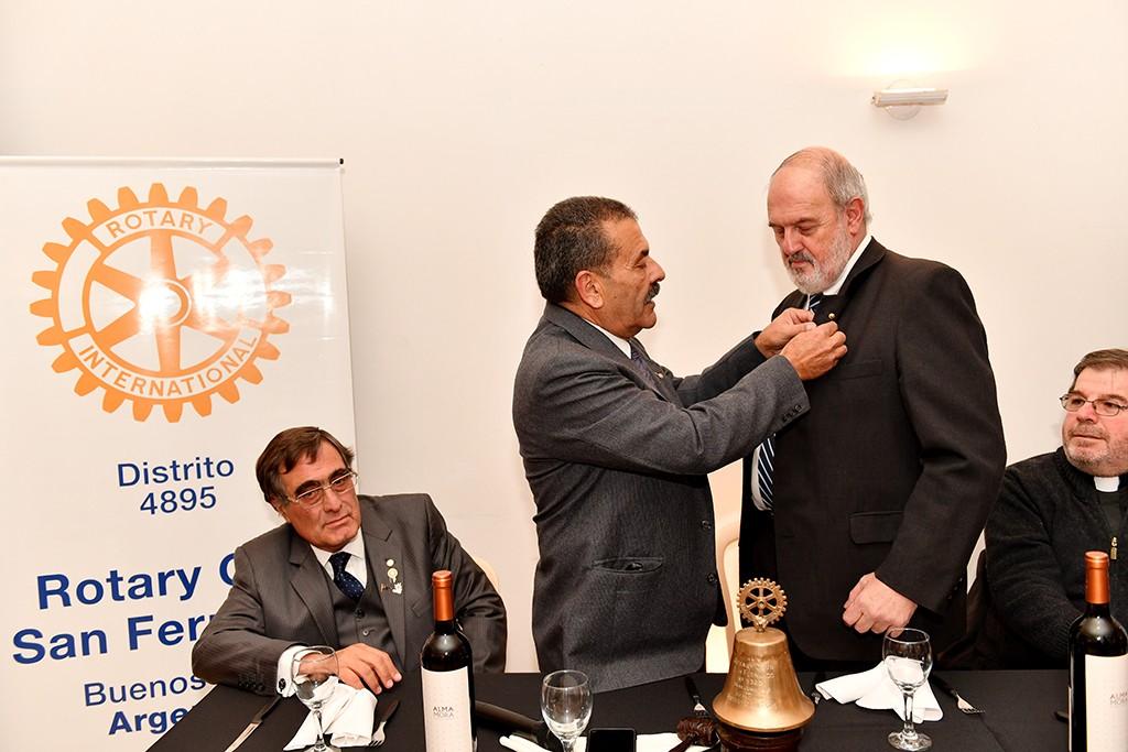 Cambio de autoridades en el Rotary Club de San Fernando