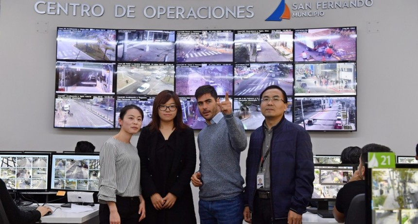 El Centro de Operaciones de San Fernando recibió la visita de la empresa china Dahua Technology
