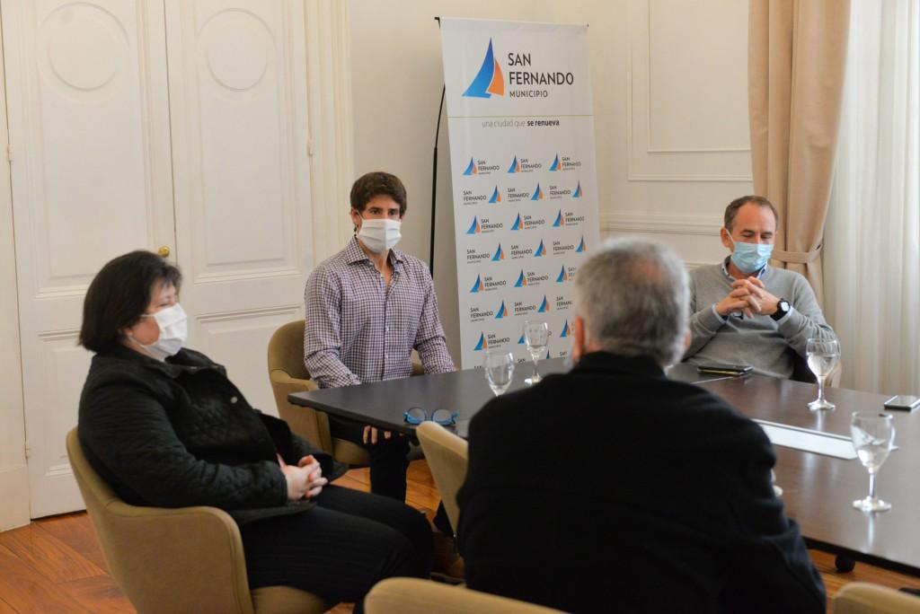 Juan Andreotti se reunió con directores del Hospital Provincial y clínicas privadas por el Coronavirus