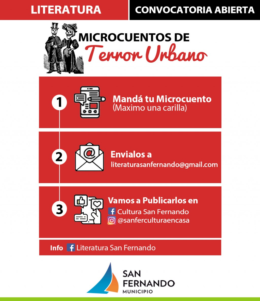 "San Fernando convoca a escribir ""Microcuentos de Terror Urbano"""