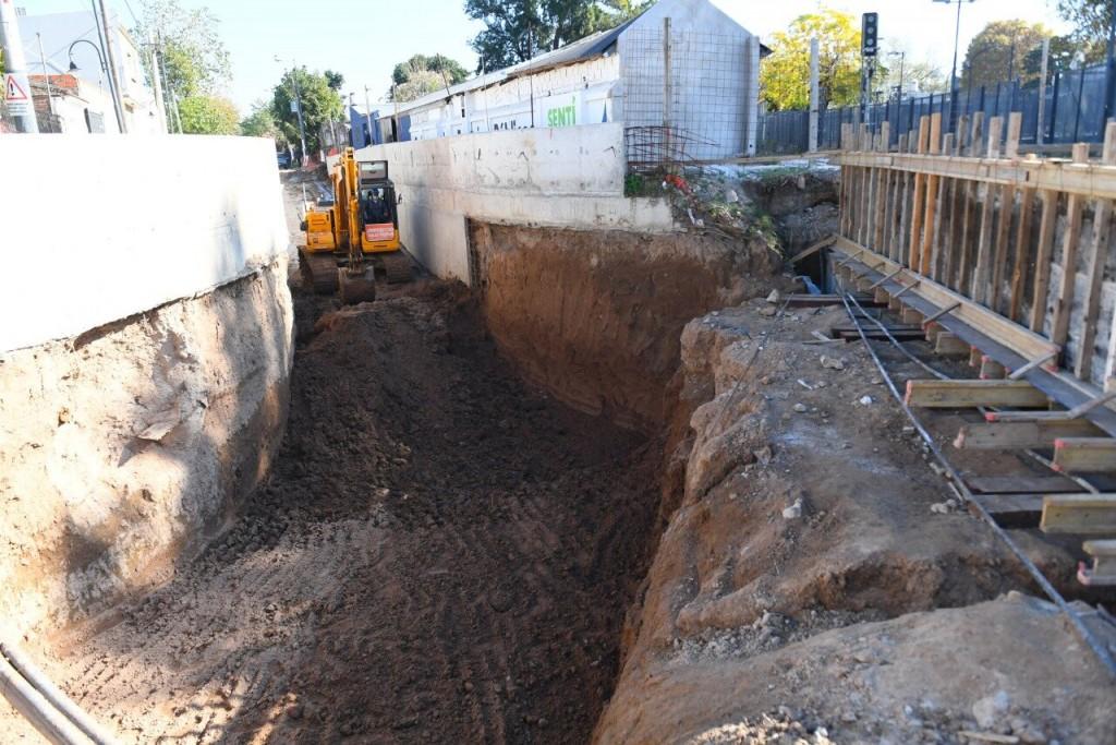 Avanza la excavación del Túnel de la calle Martín Rodríguez, en Victoria