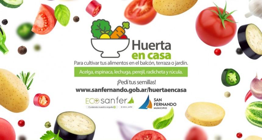 San Fernando lanzó el programa 'Huerta en Casa'