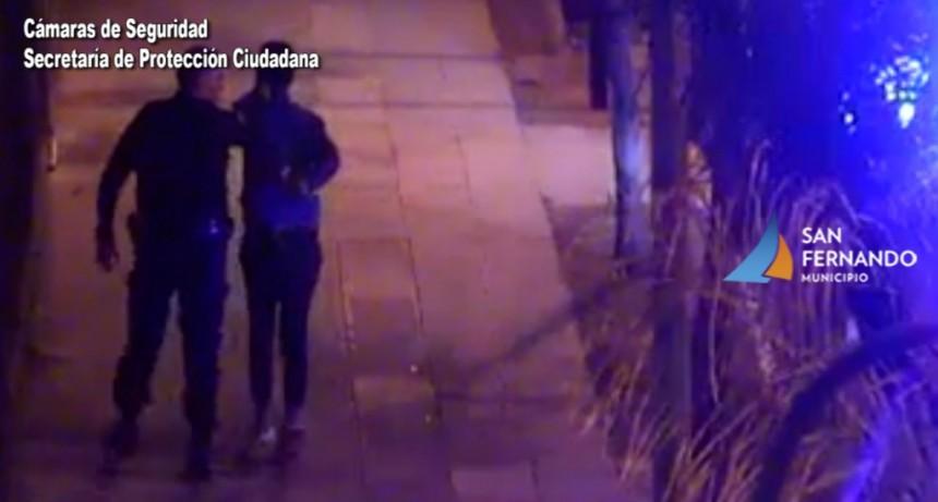 San Fernando: las Cámaras permitieron la detención de dos ladrones que intentaron entrar a un domicilio