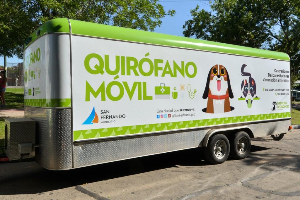 El Quirófano Móvil de Zoonosis de San Fernando cumple 7 años atendiendo en todos los barrios