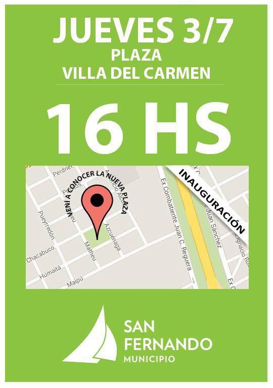 San Fernando presentará mañana la Nueva Plaza de Villa del Carmen
