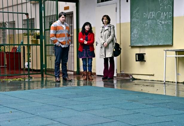 La Escuela Especial N° 503 tiene un nuevo piso de goma, donado por el Municipio de San Fernando