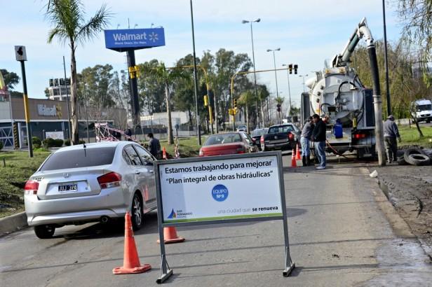 problema de los anegamientos en el Corredor Bancalari El Municipio realiza trabajos para resolver el viejo