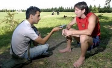 El Topo López, uno de los periodistas más cercanos a Messi
