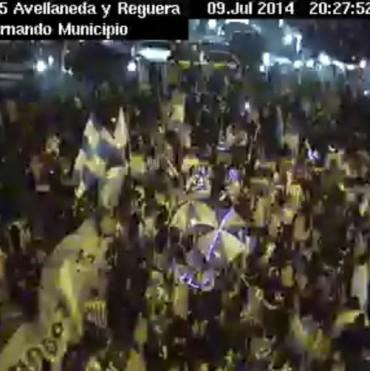 San Fernando festejó espontáneamente la victoria argentina en el Mundial