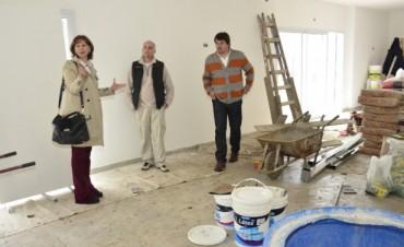Avanzan las obras del Centro Cultural y el SUM de Villa del Carmen