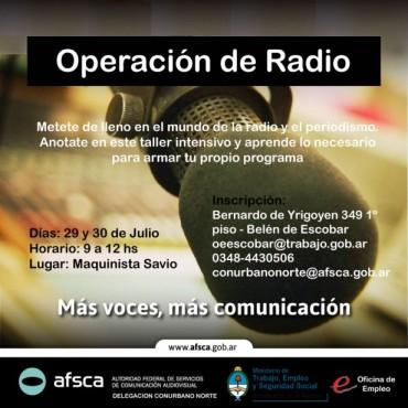 Operación de Radio en Escobar