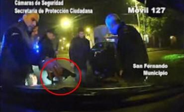 Las Patrullas Municipales de San Fernando detuvieron en la madrugada a dos motociclistas armados