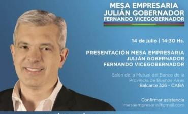 Se lanza La Mesa Empresaria Julian Gobernador-Fernando Vicegobernador