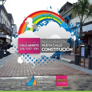 """Festival """"Cultura a Cielo Abierto"""" en la inauguración del nuevo tramo de la calle Constitución"""