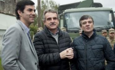 Rossi supervisó tareas de saneamiento ambiental del Ejército en