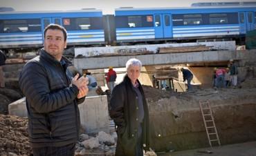 Luis Andreotti visitó la última etapa de obra del Túnel de Av. Avellaneda