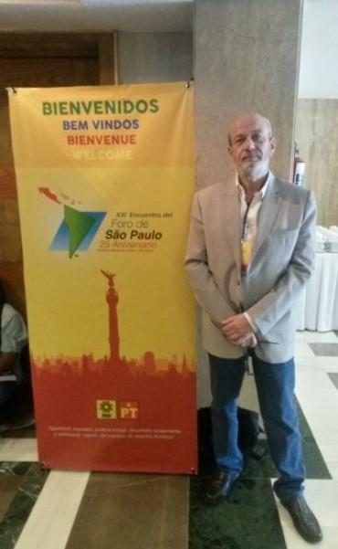 Osvaldo Frances presente en el Encuentro del Foro de São Paulo en