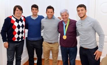 Luis Andreotti reconoció a los Campeones Panamericanos de Hockey Masculino