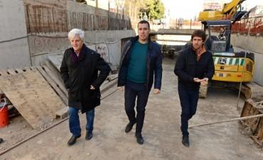 Andreotti visitó la obra del Túnel de la Ruta 202, pronta a inaugurarse