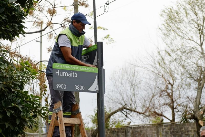 San Fernando sigue colocando nomencladores de calle