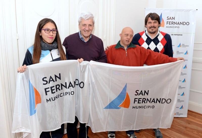 Andreotti entregó un apoyo económico a deportistas sanfernandinos