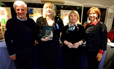 Andreotti compartió la asunción de la nueva presidente del Rotary Club Punta Chica