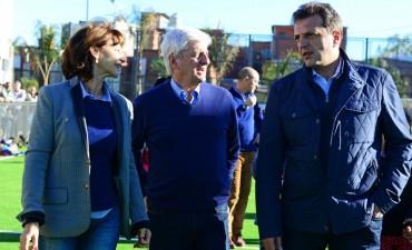 Andreotti y Massa inauguraron el nuevo Polideportivo N°8